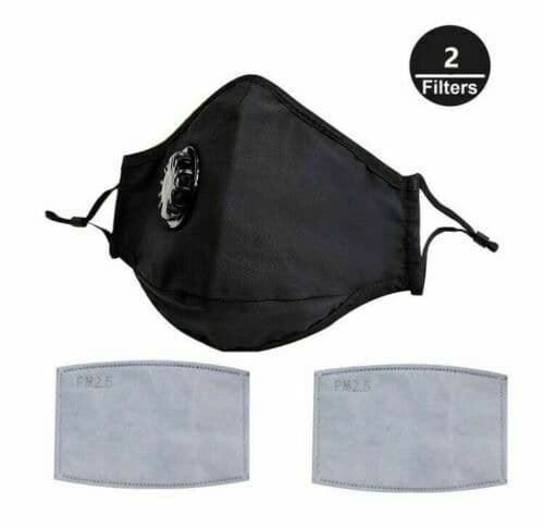 Pack of 5 Washable Face masks with double filter